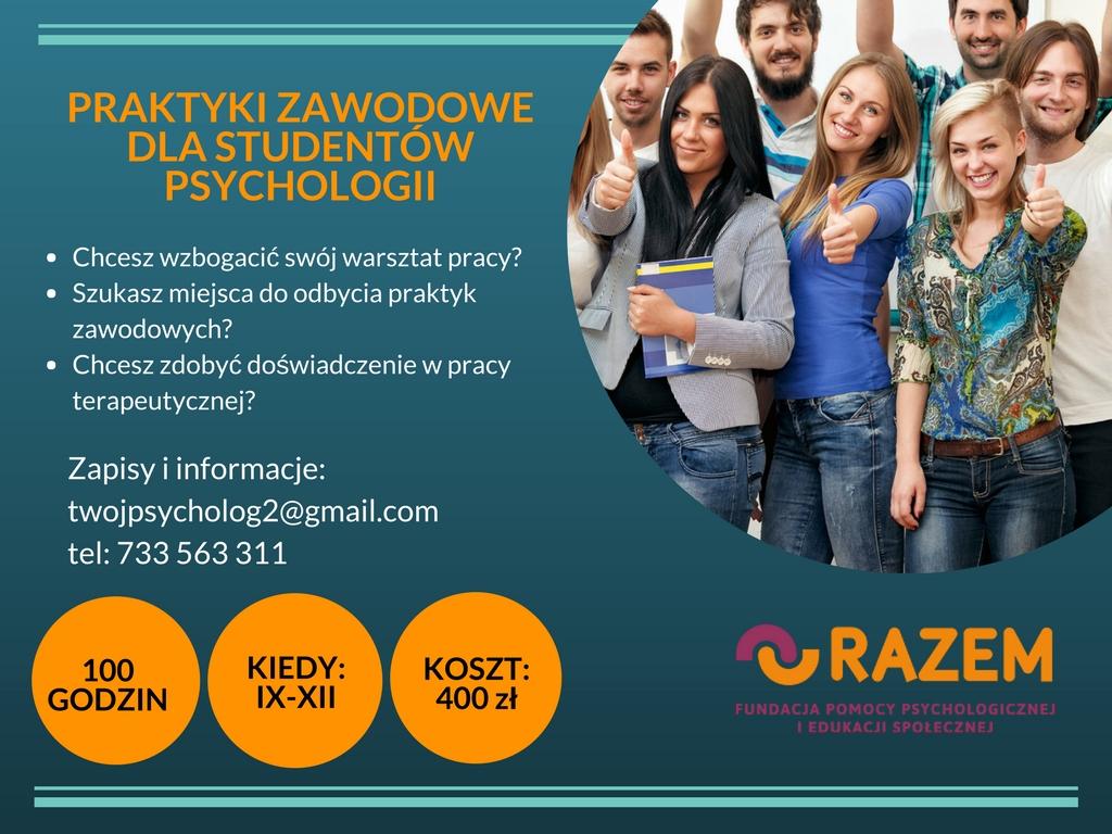 STaz dla studentow i absolwentow psychologii